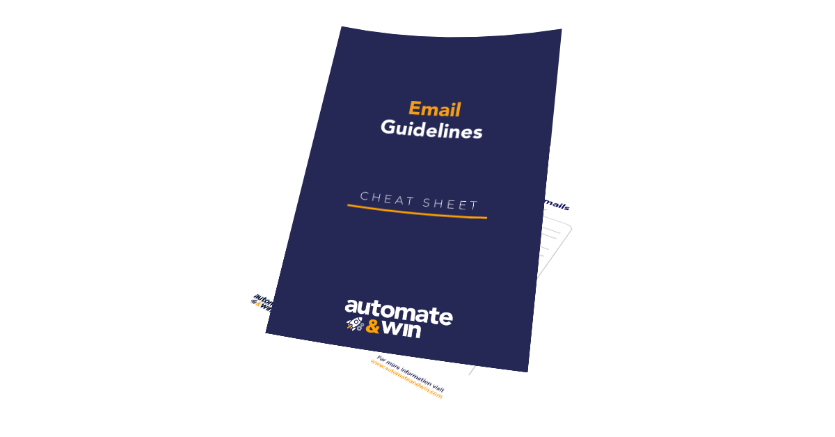 Email guidelines cheatsheet mockup